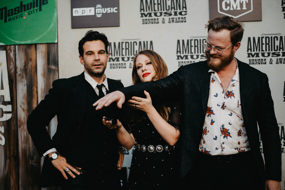 The Lone Bellow. Zach Williams, Kanene Donehey Pipkin, & Brian Elmquist. Hair, Makeup & grooming by Nicole Schimel.