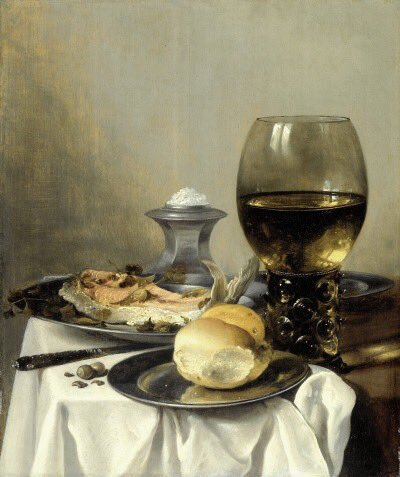 Still Life with Salt Shaker  Pieter Claesz , 1640