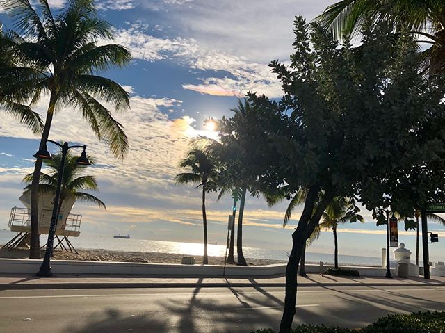 Loving this morning view of the beach while keeping up with my #NewYear fitness goals! Isn't it beautiful? #FortLauderdale #Goals #PelicanLanding