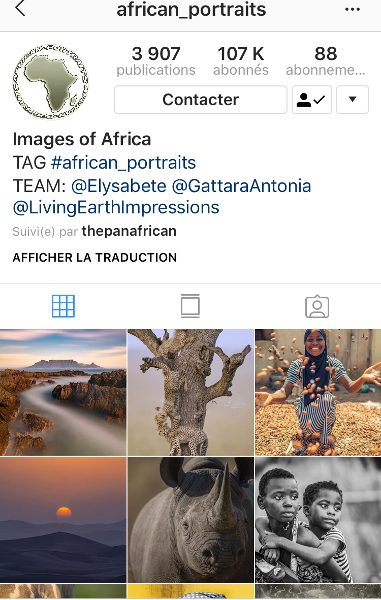 @african_portraits - African landscapes and biodiversity are featured on this IG account which found a way not to stereotype but rather reveal Africa's richness and uniqueness.