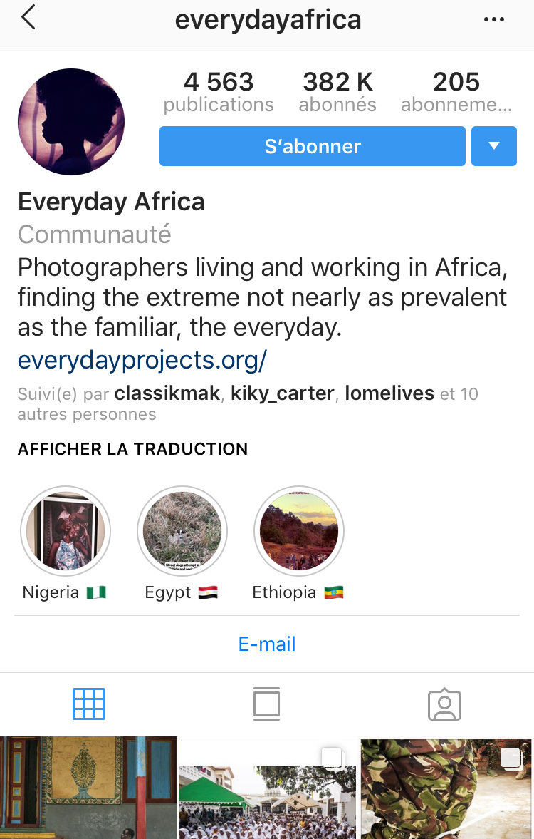 @everydayafrica - It might be the most popular account on Africa . These are pictures from African photographers documenting the daily lifestyle of the citizens of their respective countries.