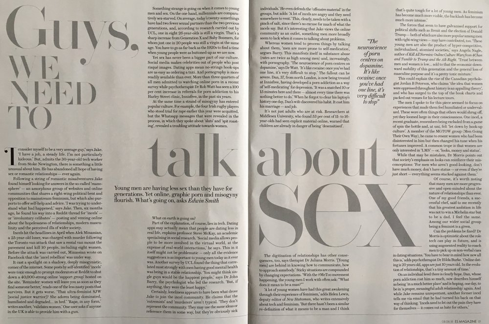 What's up with millennial men and sex? - Evening Standard Magazine