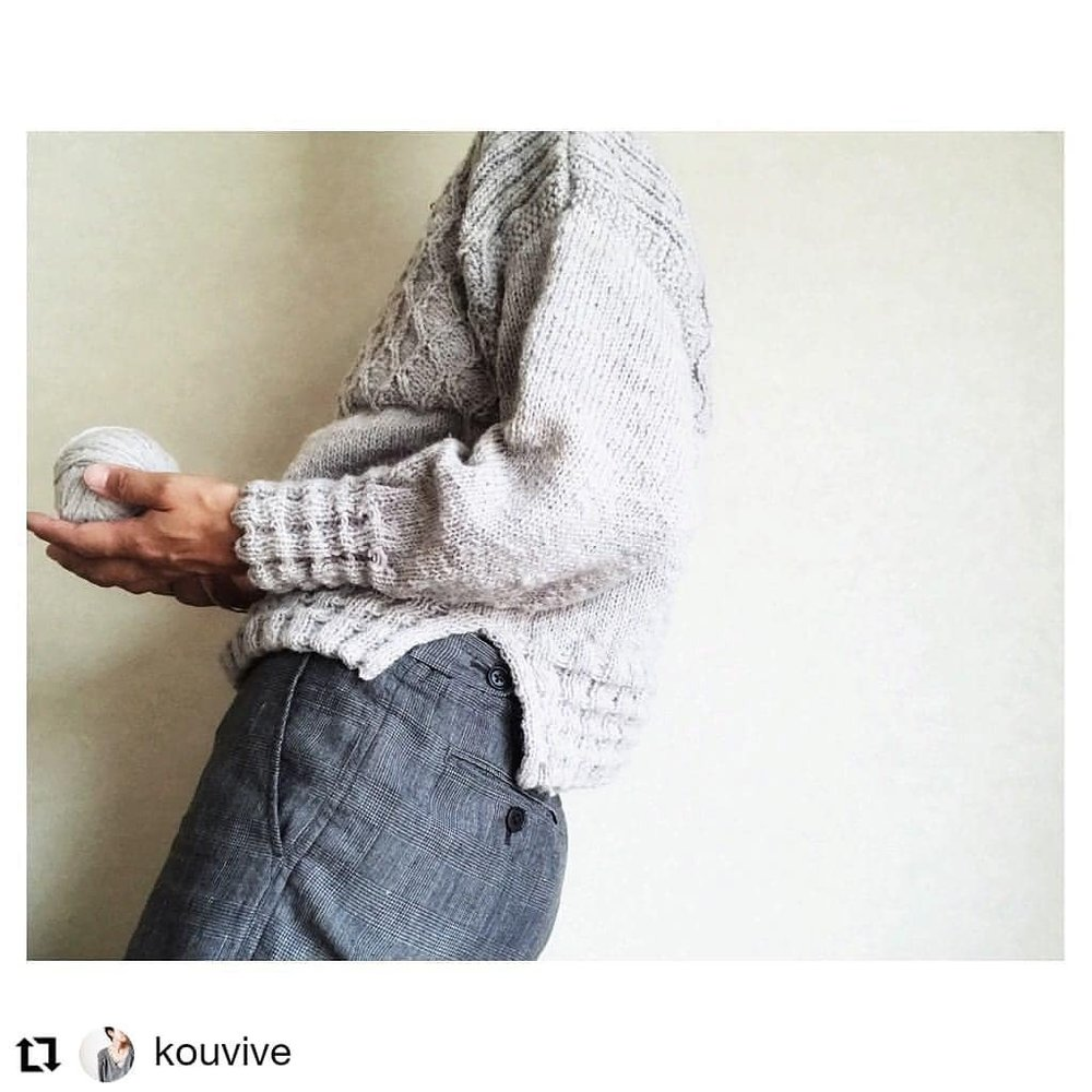 Something very exciting coming soon!!!     #Repost @kouvive  • • •  *  With sleeves🌳  #nutmegfibers  #nutmegfibersretreat  *  *  *  #yarnlove #handdyedyarn #iloveyarn #knittinglove #knitstagram #yarnlove #alwaysknitting #knitting_inspiration #knittersofinstagram #amimono #編み物
