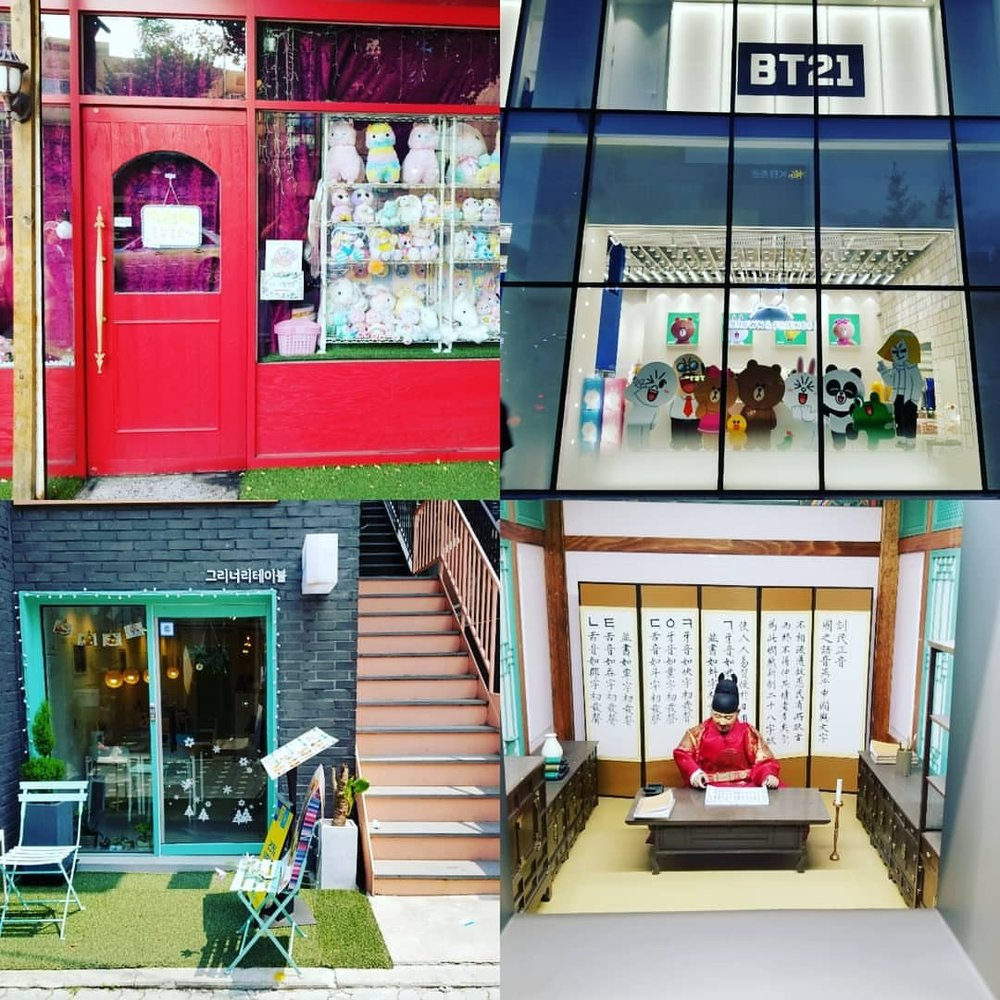 Some memorable shop fronts that we saw in Seoul. There's too many photos! So, I'll put em on here in 4's. #bt21 #서울한글박물관 #마포구 #reddoor