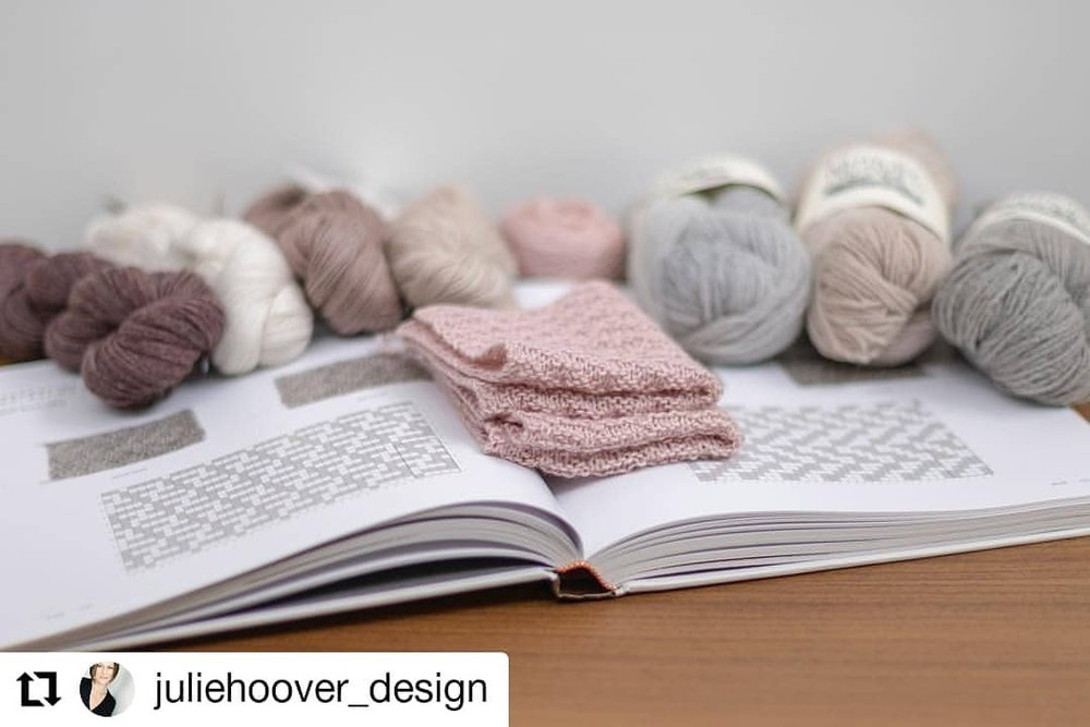 When one of your favorite designers tags your yarn in their post, you repost!    #Repost @juliehoover_design  • • •  Rainy Friday afternoon distractions. 🌧