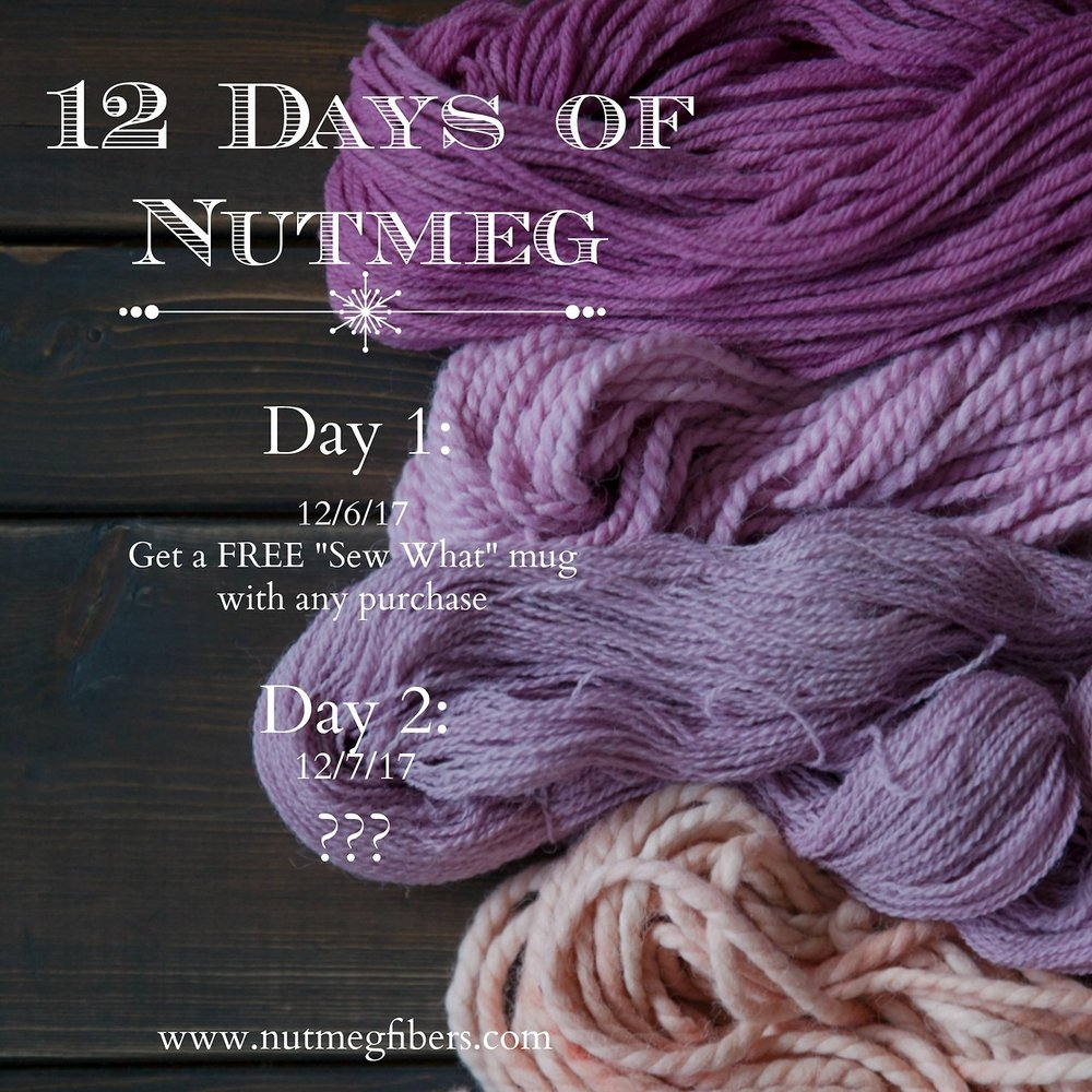 Our holiday season celebration is here! Make sure to visit us during our 12 Days of Nutmeg celebration for special gifts and promotions during each of our 12 Days. We're beginning this Wednesday!   xo  Nutmeg