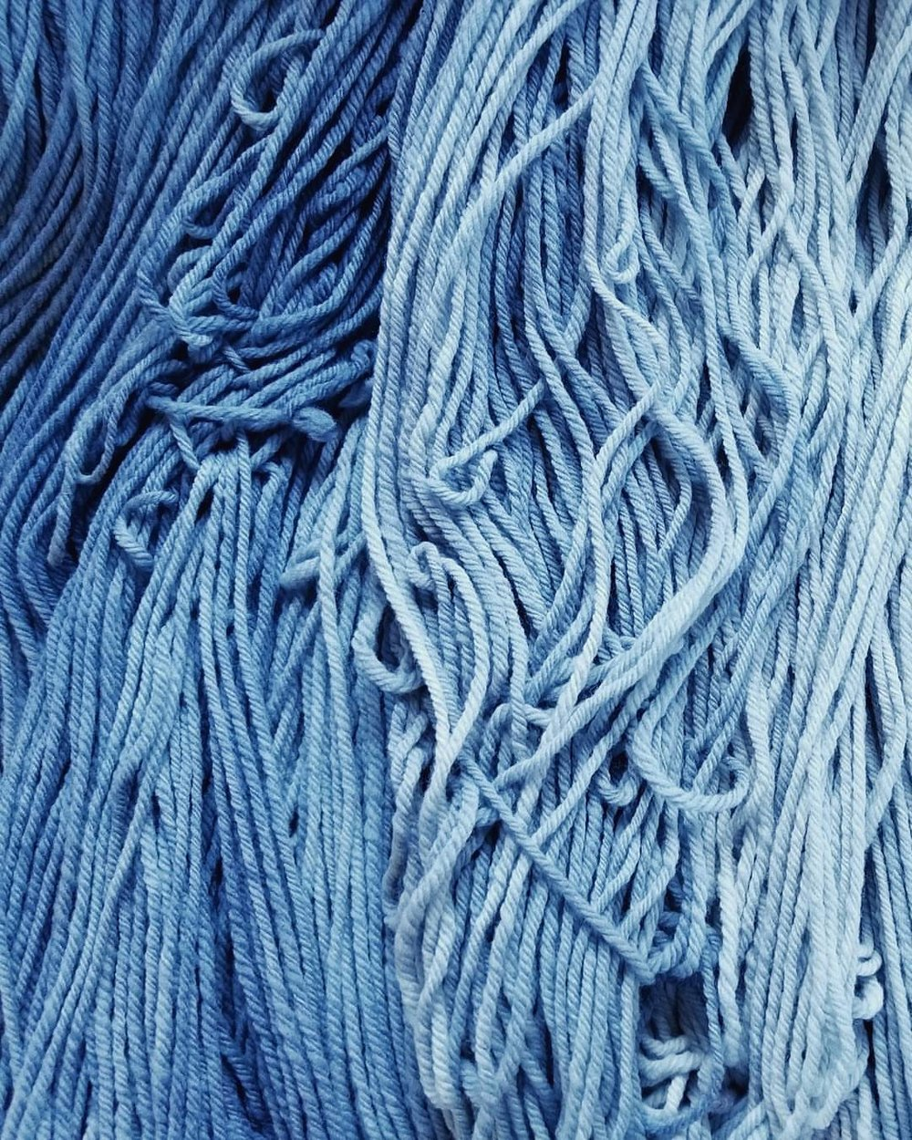 "Today's yarn has me ""singing my blue-oo-oos"" 파란 눈물에 파란 슬픔에 길들여져. Can't wait to add these to the line up! #yarn #bigbanginspiration #kpop #handdyed #실 #손으로만들다  (at Nutmeg)"