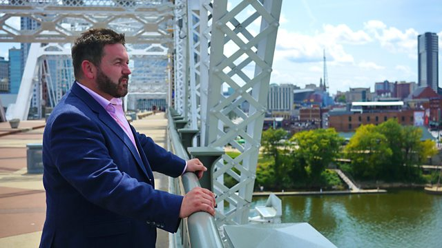 Episode 2    In the second episode of the series, William Crawley travels from New Jersey to Pittsburgh as he reveals the role played by men from Ulster in the American Civil War, how an Ulster financier bankrolled the Pittsburgh steel industry and the remarkable story of a daring undercover journalist with roots in Ulster.