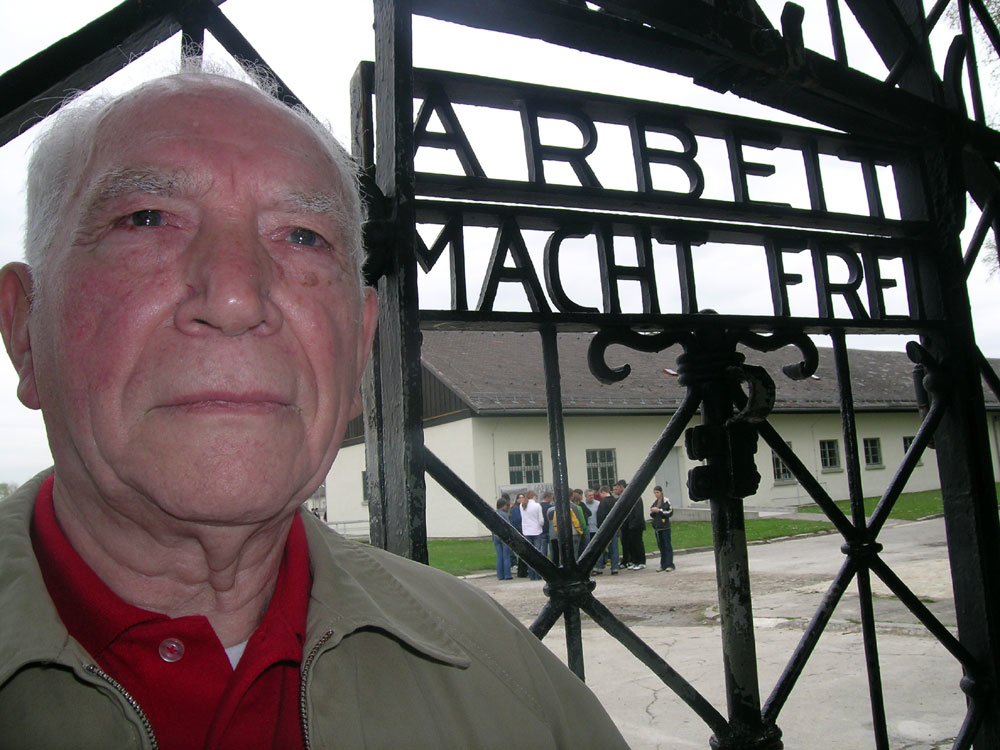 Teddy Dixon at Dachau Concentration Camp.jpeg
