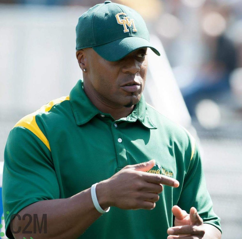 Coach Spann - Kenyon Spann is entering his 9th season with George Mason University club football team as their Defensive and strength coach, and his 2nd season as the team Defensive Coordinator. In his coaching career, Coach Spann has coached several players who earned numerous post-season awards including All-American and Player-of-the-Year recognitions for the NCFA. Coach Spann earned his Masters in Sport Psychology, and his Bachelor of Education from George Mason University, where he played football. He is currently a Physical Education teacher in Arlington VA, where he has been teaching for the past 9 years.