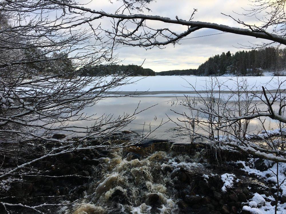 Matildanjärvi talvi