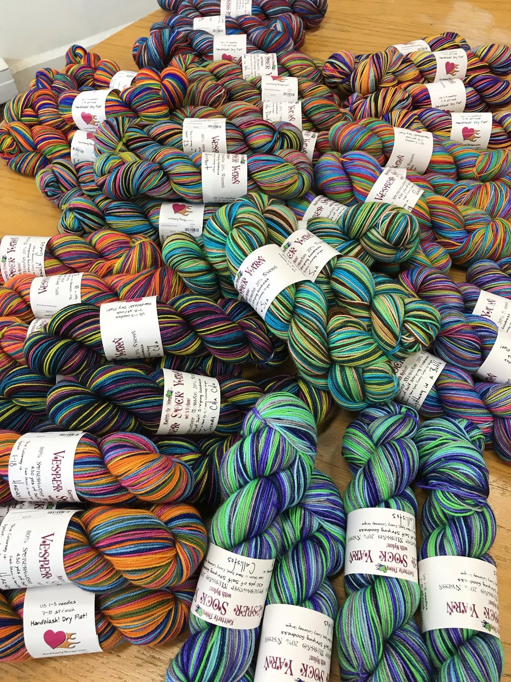 Knitterly Things self-striping Vesper Sock Yarn