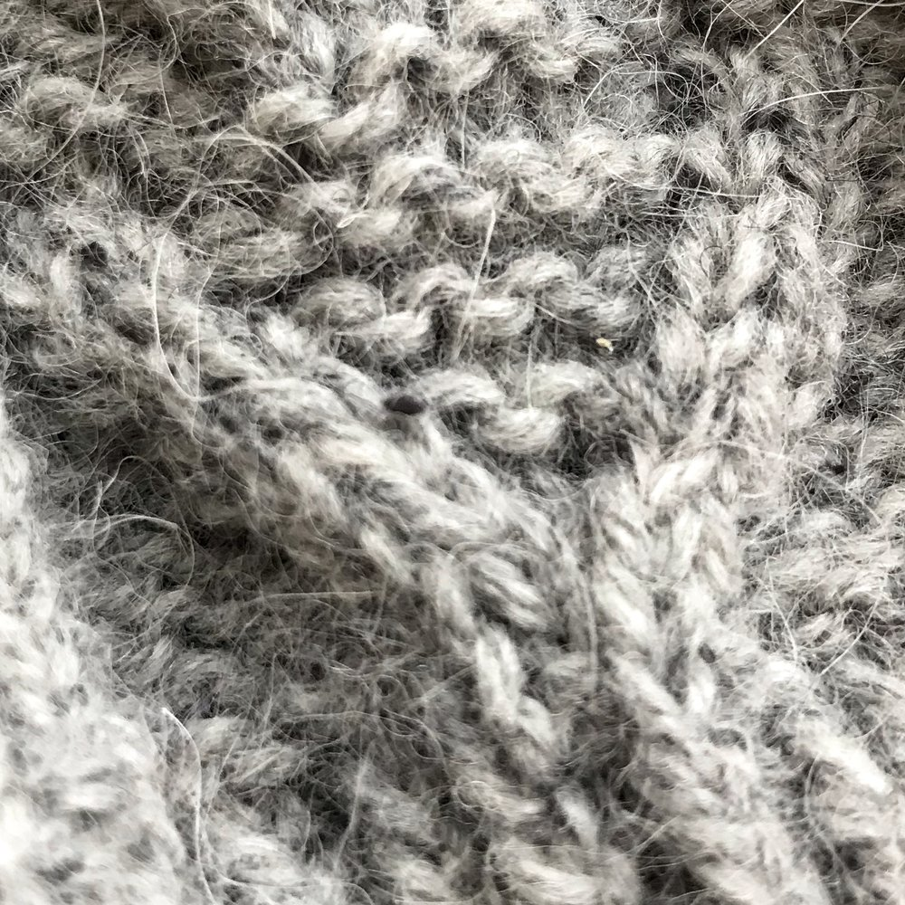 Top secret - My other knitting project is under wraps until this summer's Slow Yarn Crawl PNW. But here's the tiniest of previews.