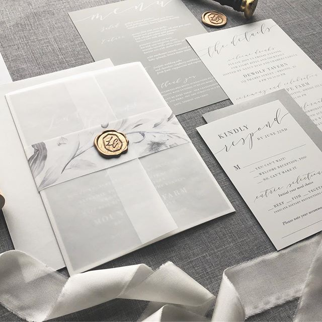 It was alll the shades of grey on this one but pictures don't do it justice. The paper was the silkiest texture, so smooth and luxurious feeling! The white ink on the invite and the day of stationery was the perfect touch! Loved working with Lindsay and Chris on these!