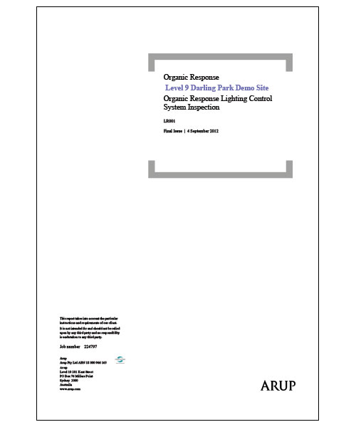Arup Report Commonwealth Bank