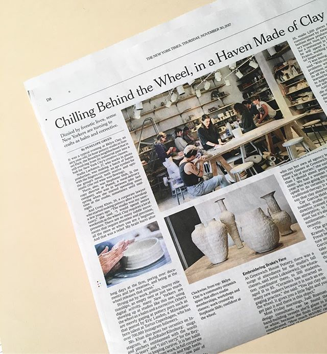 📰⚡️ humble mention in a rag of note ⚡️thank you @nytimes and beloved studio @bklynclay for all that you do (.....p.s. see you tomorrow nyc!! pop-up shop with best pal @winkinkshop opening 7pm! further details in profile! )