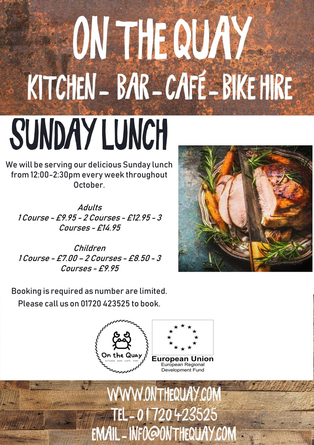 On The Quay A4 Poster Sunday Lunch Version 3-1.jpg