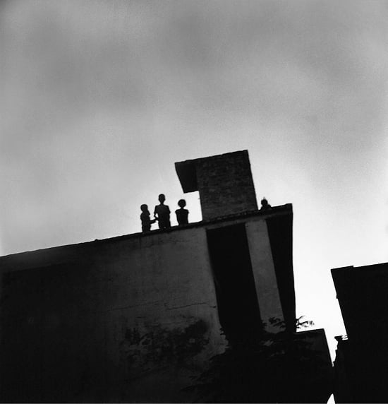 Its getting dark and the only place children are safe to play is on the rooftop. #humanrights #childrenrights