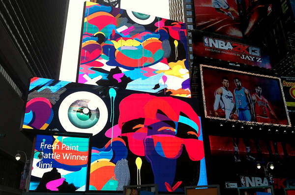 Windows 8 launch @ Times Square NYC