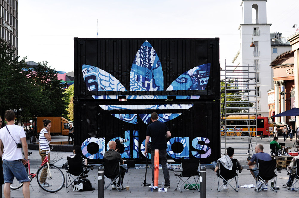 adidas mural, Copenhagen Fashion Week