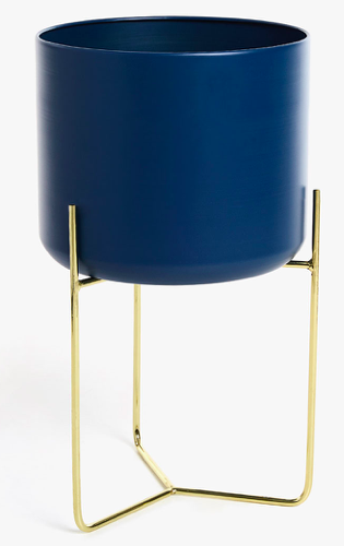 Zara Gold & Blue Planter $89.90 - Buy Here