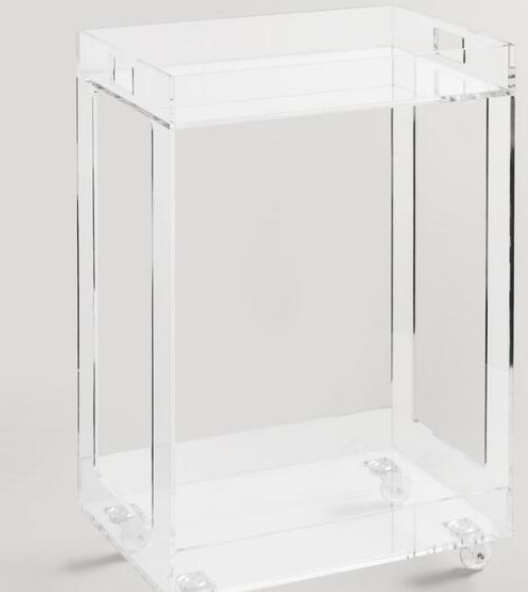 Acrylic Bar Cart $199 - World Market