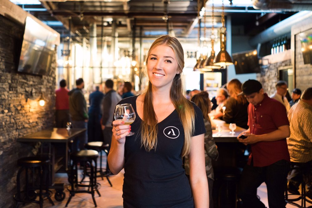 Event Sales Coordinator | Becky Flees   Becky is our in house event and craft connoisseur. When she's not pouring putting on awesome events for our guests, she's enjoying a cold craft beer. She has over a decade of experience with craft beer and spends a great deal of time educating guests and our staff to keep spreading the knowledge of craft beer. For anyone thinking of hosting an event with us, you'll have the pleasure of working with an exceptionally talented young woman.