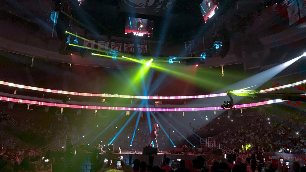 Stage Audio and Lighting - Our digital stage audio systems and expert sound engineers produce a clear mix for both streaming and local audiences.State of the art LED lighting tools create a dynamic visual experience in person and on camera.
