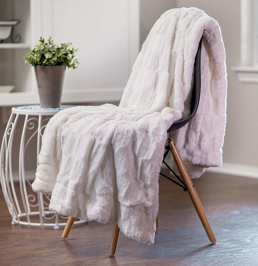 Faux Fur Microfiber Blanket