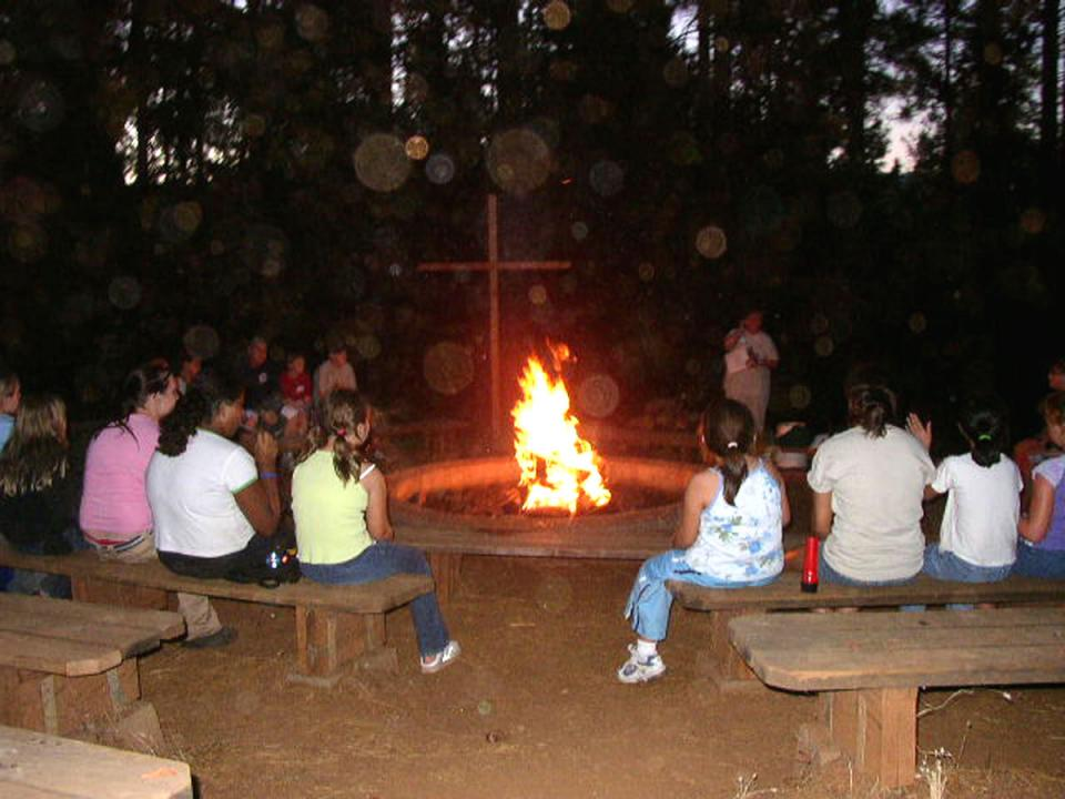 Campfire during Camp Lodestar California Outdoor Education.jpg