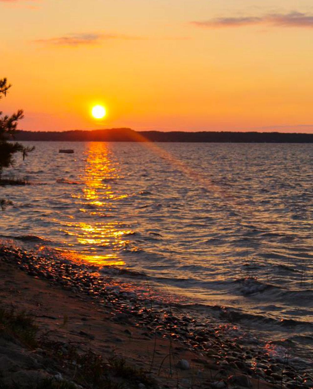 Sunset views over Crystal Lake