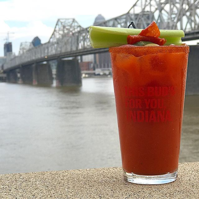 🍕🍅🌶 You've gotta try our Hand Crafted Bloody Mary made with Rocky's signature homemade marinara and #Absolut Peppar vodka. It's a local favorite and also makes for a delicious mocktail!🌶🍅🍕#bloodymary #italian #rockyssubpub #SoIn #GoSoIn #indiana #jeffersonville