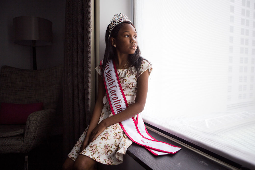 Tymia McCullough is a poised, pageant-winning 11-year-old from South Carolina. She also happens to have sickle cell anemia and relies on Medicaid to pay for medical care. (Liam James Doyle/NPR)