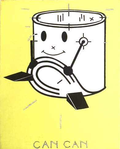 Steve Gianakos,  CAN CAN , 1981, acrylic on canvas, 17h x 14w in.