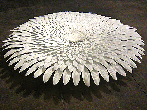 Markus Baenziger,  Forever Never,  2005, Resin, metal, wood, and fiberglass, 11h x 94 diameter in.