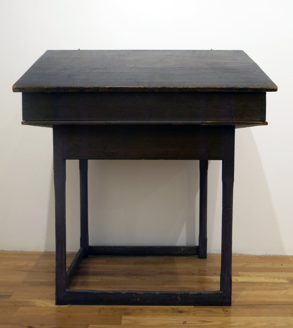 American Anonymous,  School Teacher's Desk,  19th c., painted wood, acquired Vermont, 41 1/2h x 35w x 25d in.