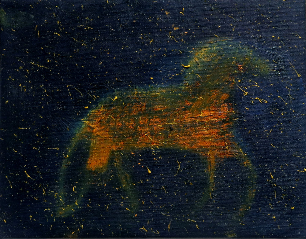 Elisa Jensen,  Sunhorse,  2016, oil on linen, 7h x 9w in
