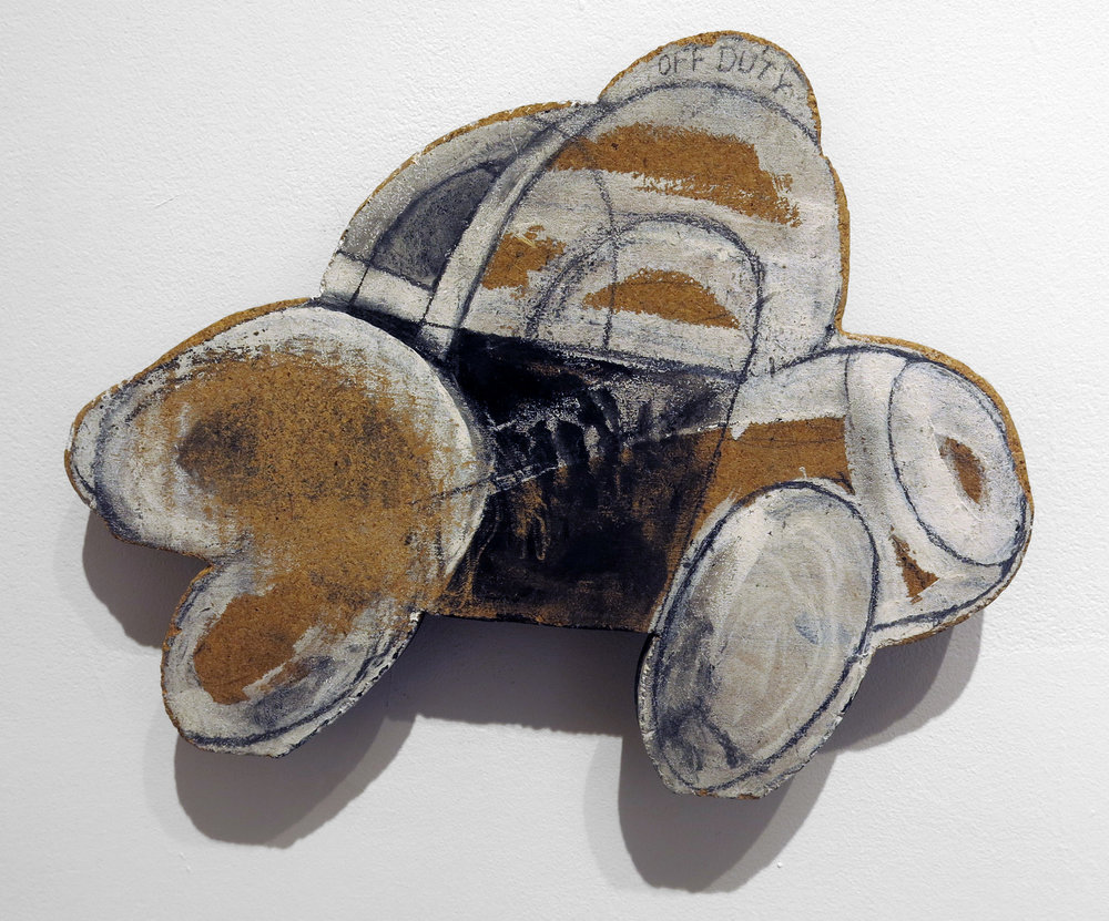 Jenny Snider,  Large Gesso Off-Duty: 1/A,  2001, gesso and pencil on fiberboard, 12 1/2h x 16w in.