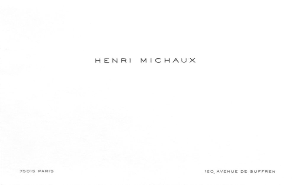 Henri Michaux,  Calling Card,  1983, 3h x 5w in