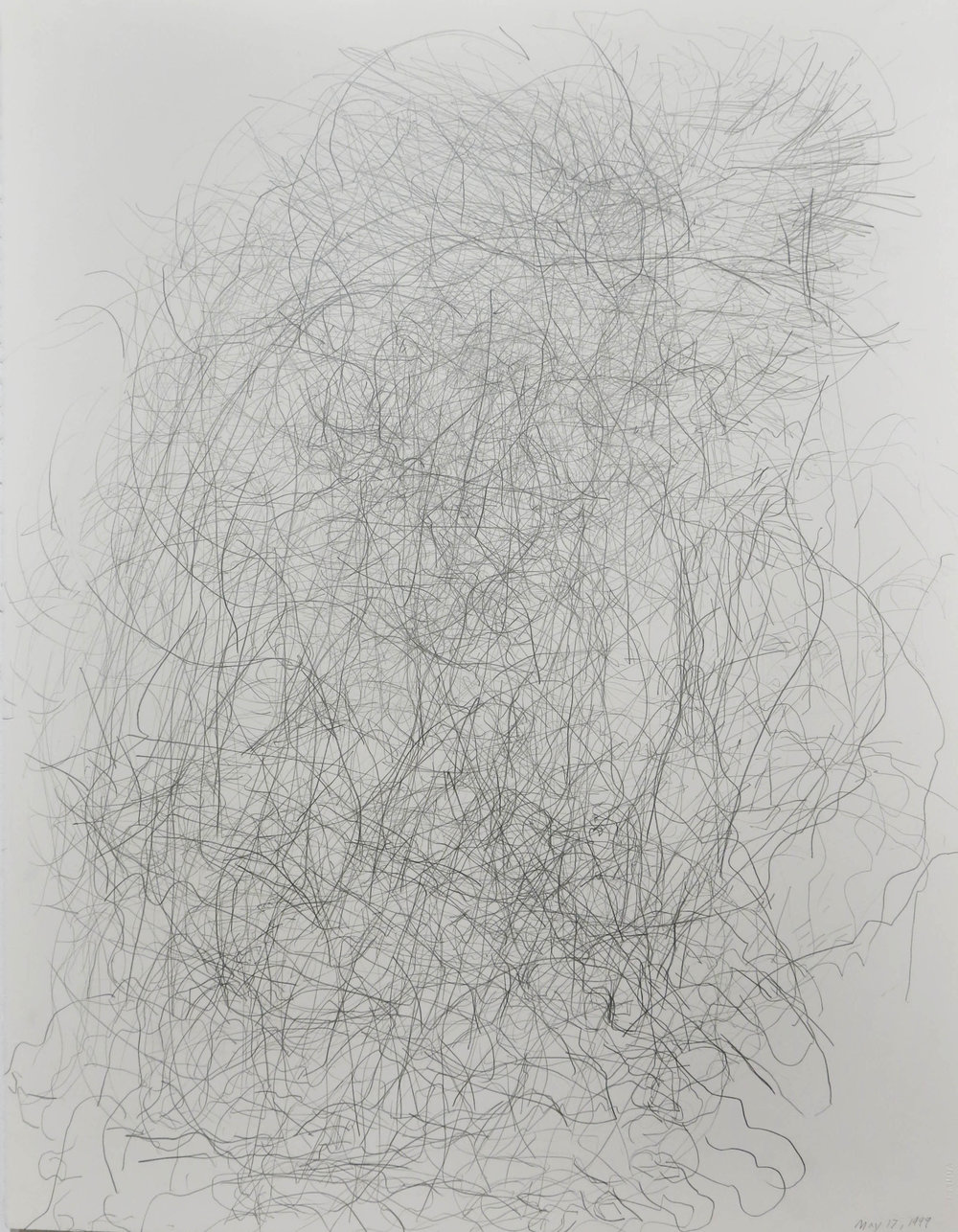 Edward Finnegan,  May 17, 1999 (Portraits series) , 1999, Graphite on paper, 30h x 22.5w in.
