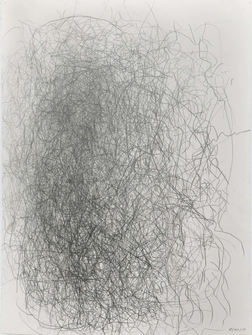 Edward Finnegan,  February 25, 1997 (Portraits series) , 1997, Graphite on paper, 30h x 22.5w in.