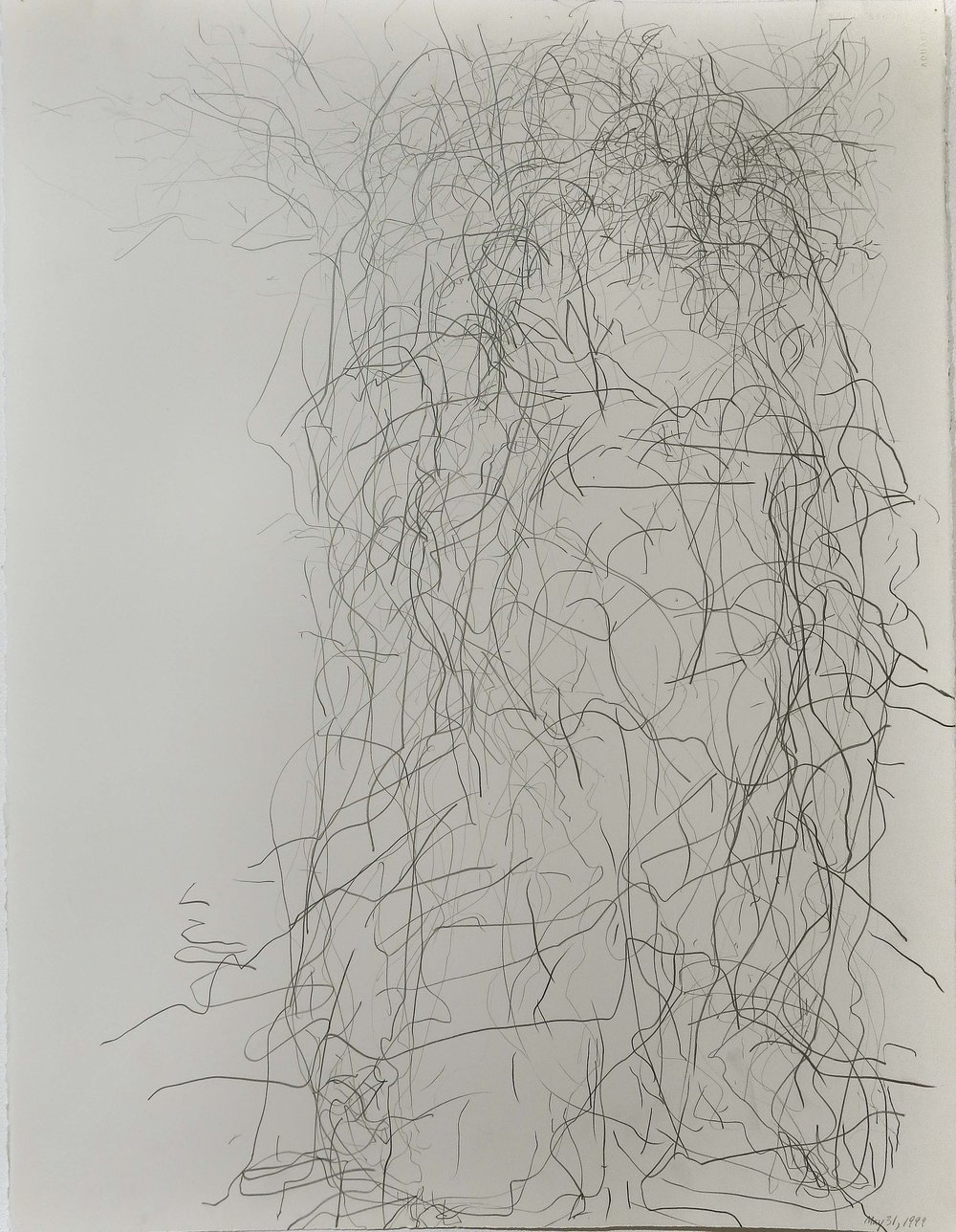 Edward Finnegan,  May 31, 1999 (Portraits series) , 1999, Graphite on paper, 30h x 22.5w in.