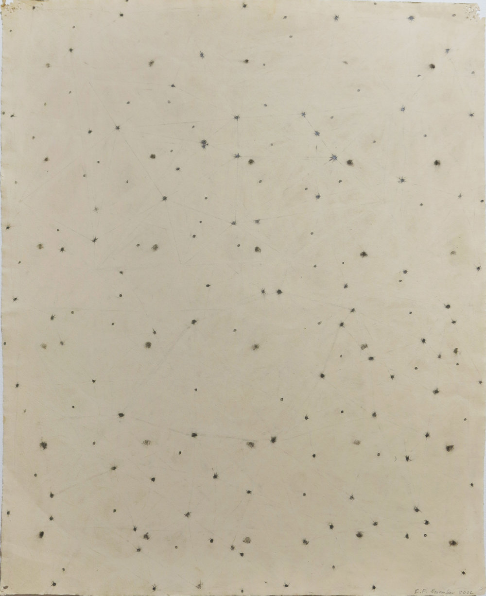 Edward Finnegan,  (Constellation series) , November, 2006, Graphite on paper, 25h x 20w in.