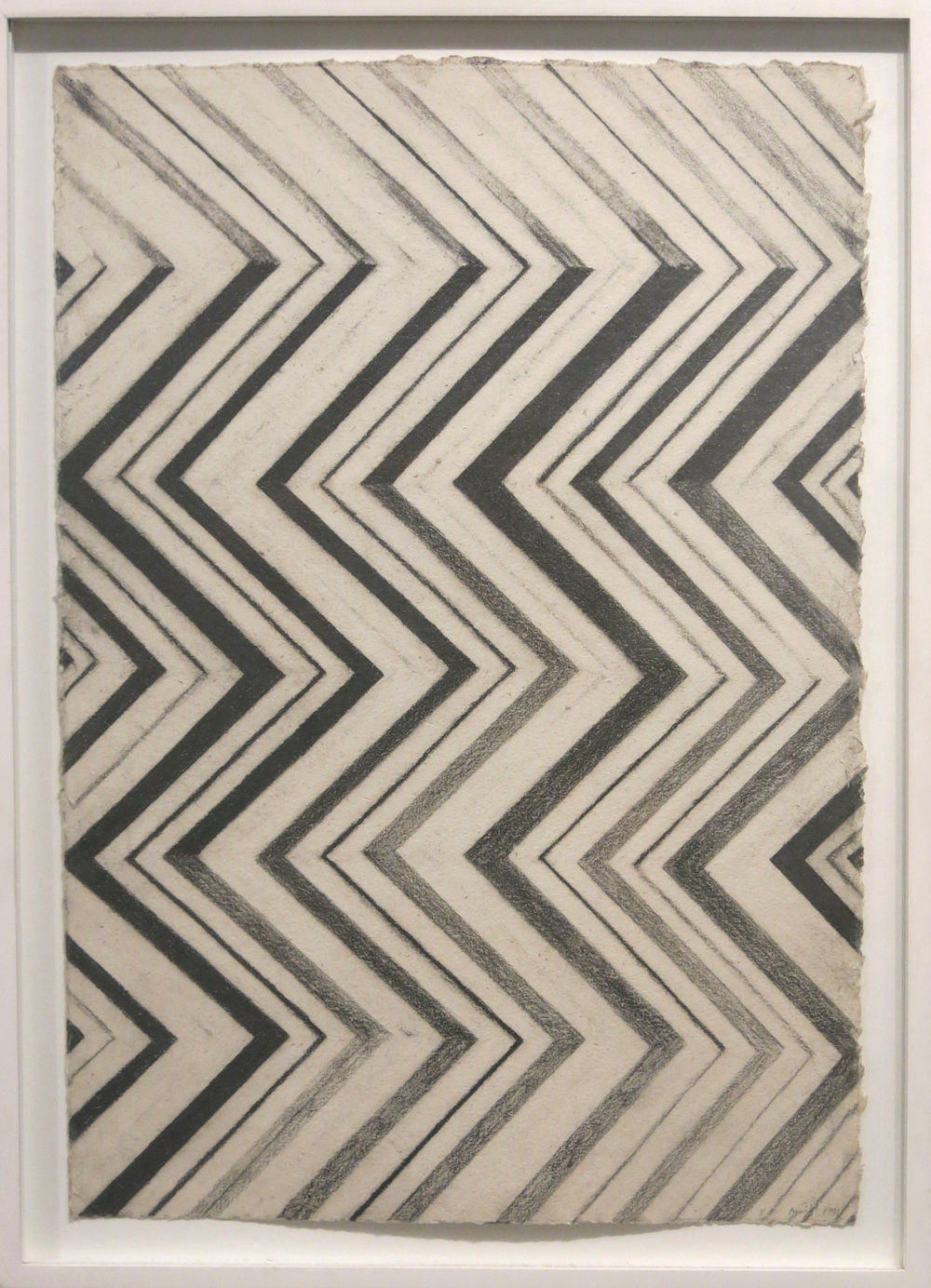 Edward Finnegan,  Untitled (Geometric Inlay),  1991, Graphite on paper, 24.25h x 18.25w in. (framed)