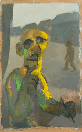 Ken Kiff,  Old Man by the Window,  1975, Acrylic on paper, 23h x 15.5w in. sheet size