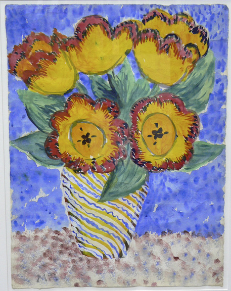Margaret Ponce Israel,  Untitled,  c. 1970, Gouache on paper, 21.5h x 15w in. (framed)