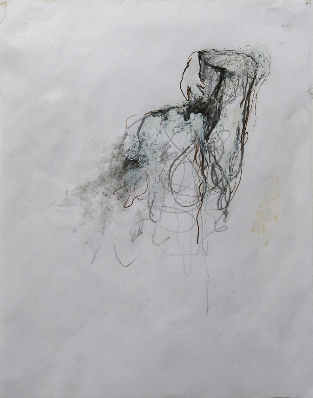 June Leaf,  Untitled (Study for Thirst),  2006, mixed media on paper, 13.625h x 11.125w in. (framed)