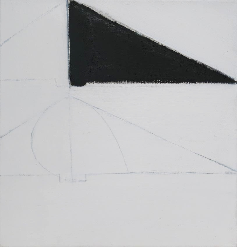 Paul Pagk,  Untitled (White Black),  2015, oil on linen, 21h x 20w in.