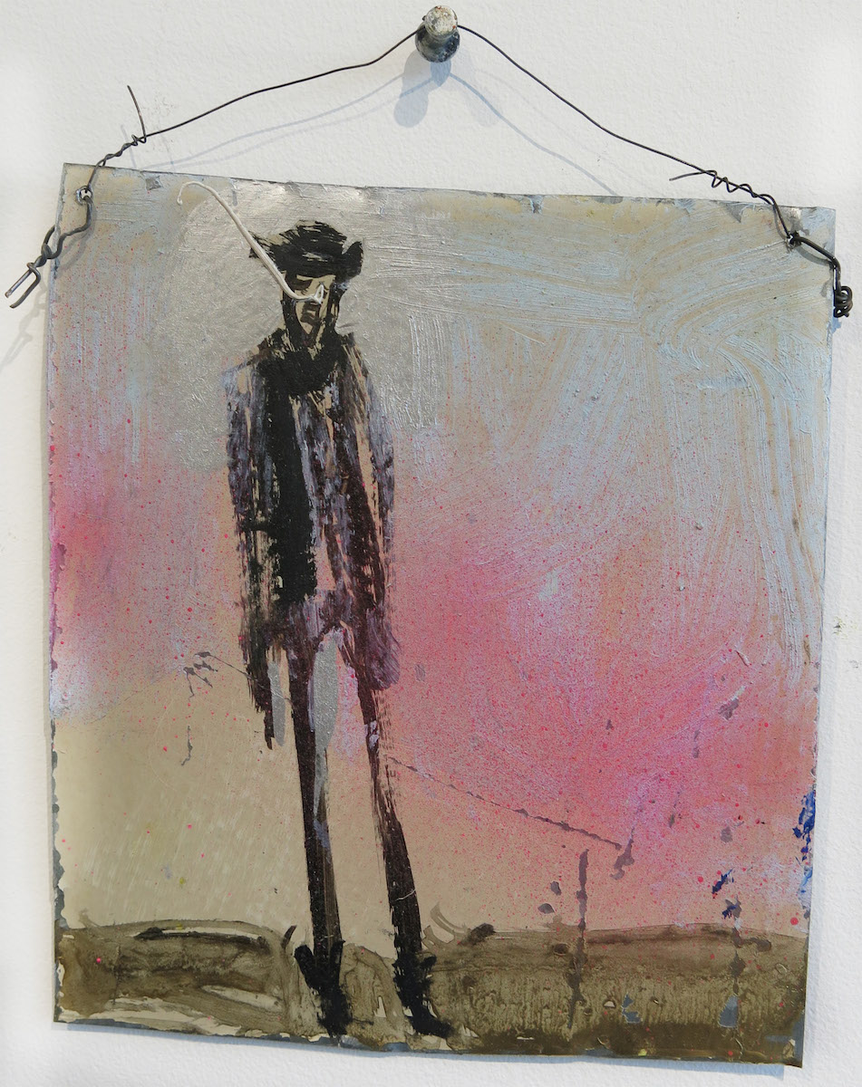 Matt Blackwell,  Ringo (Retablo),  2015, mixed media on tin, 7.625h x 6.75w in.