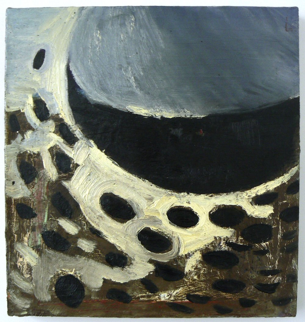Christopher Brown,  Flicker,  1997, oil on linen, 17h x 18w in.